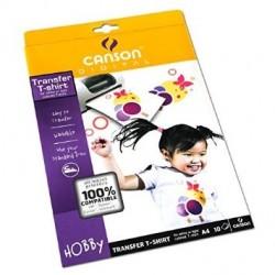 CARTA CANSON T-SHIRT TRANSFER 10F A4 140