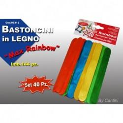 BASTONCINI  LEGNO COLORATI - 95312