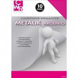 CARTONE METALLIK ARGENTO 320GR 23X33