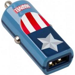 CARICABATTERIE PER AUTO USB CAPITAN
