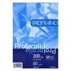 FOGLI PROTOCOLLO FABRIANO RIGO 31 60GR