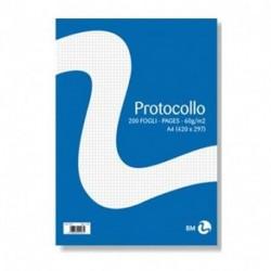 FOGLI PROTOCOLLO 60GR 5MM. 200FF - 1406