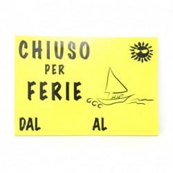 CARTONCINI CHIUSO PER FERIE FLUO 33X23