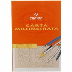 BLOCCO CANSON CARTA MILLIMETRATA A4+