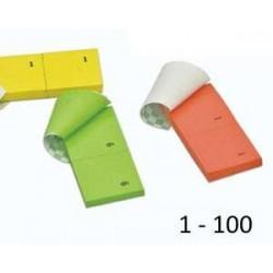 BLOCCO NUMERATO 1-100 COLORI FORTI(CF60)