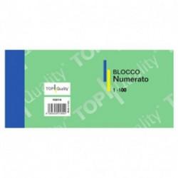 BLOCCO NUMERATO 1/100 COLORI MISTI 6X13