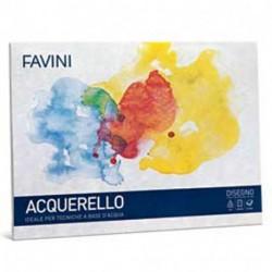 ALBUM DISEGNO FAVINI ACQUARELLO 25X35