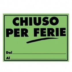CARTONCINI CHIUSO PER FERIE FLUO 23X33