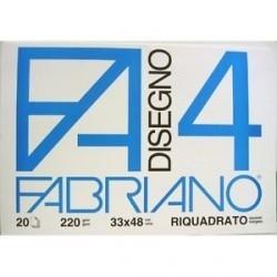 ALBUM DISEGNO FABRIANO F20 4 RIQUADR. A4