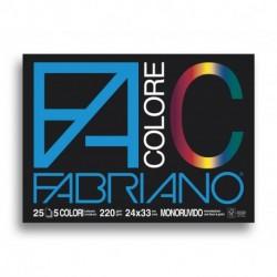 ALBUM DISEGNO FABRIANO COLORE 24X33 F25