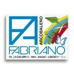 ALBUM DISEGNO FABRIANO ARCOBALENO 140GR
