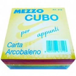 CUBO 9X9X4 CARTA ARCOBALENO