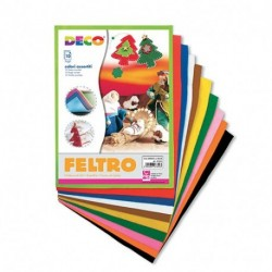 FELTRO COLORI ASS. 21X30CM 10PZ - 07653