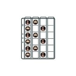 10 BUSTE SVAR VENERE P/MONETE 4X4 24T C/
