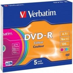 DVD-R CF.5 PZ. VERBATIM JEWEL CASE