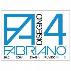 ALBUM DISEGNO FABRIANO F20 4 RUVIDO A3