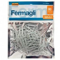 FERMAGLI 32MM BUSTA 80PZ. - 18NIK068