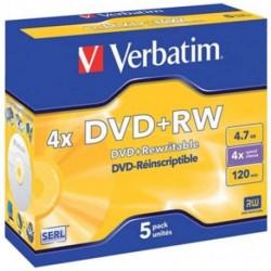 DVD+RW CF. 5 PZ JEWEL 43229 VERBATIM