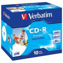 CD-R CF.10 PZ. VERBATIM PRINTABLE