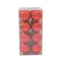 16 PALLE 7 CM LUCIDE ROSSO