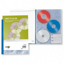 PORTA CD 30 BUSTE UNO TI BLU - 55403007