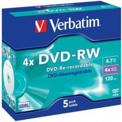 DVD-RW CF.5 PZ. VERBATIM JEWEL 120MIN 4X