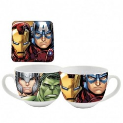 TAZZA + SOTTOBICCHIERE AVENGERS -