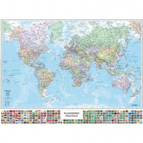 Cartina Italia Politica In Vendita.Carta Mondo Politica Con Bandiere Carte Geografiche Vendita Online Ingrosso