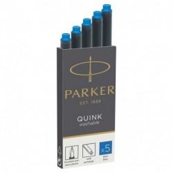 CARTUCCE PARKER QUINK 5PZ NERO/BLU -