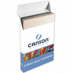 BOX CANSON COLOR 200F 50X70 220GR ASS
