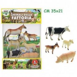 ANIMALI DEL MONDO FATTORIA 6 PZ - 70601
