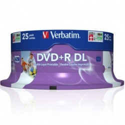 DVD+R DUAL LAYER 8X 8,5GB - VERBDVD858XL