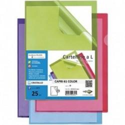 CARTELLINE A L CAPRI ROSSO 61 25PZ