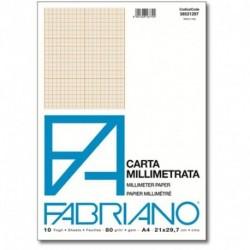 BLOCCO CARTA MILLIMETRATA  A4 82GR.10F.